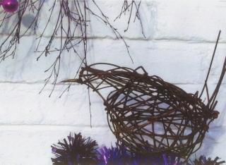 Bird sculpture by Purple Sue