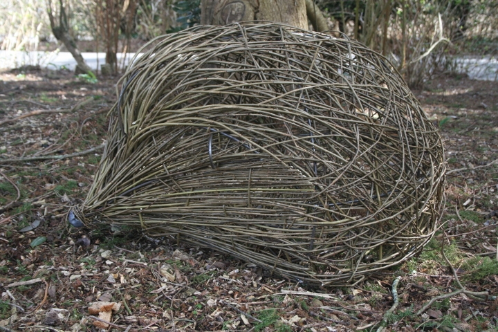 Giant hedgehog willow sculpture by Purple Sue