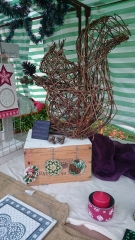 Willow squirrel sculpture, gifts & upcycled products by Purple Sue