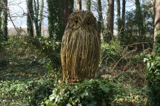 Giant owl willow sculpture by Purple Sue