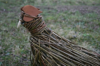 Willow & metal sculpture of pheasant by Purple Sue